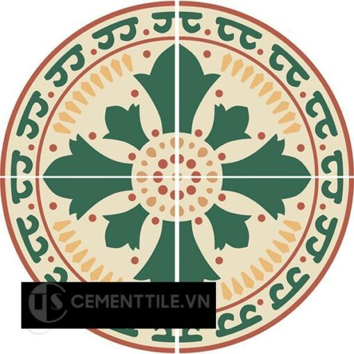 Bàn gạch bông CTS-05 - Cement tile table CTS-05