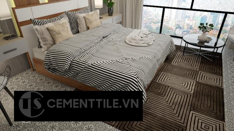 Gạch bông cts 1.46 trang trí phòng ngủ