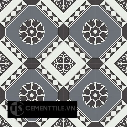 Gạch bông CTS 197.1(4-13-32) - 16 viên - Encaustic cement tile CTS 197.1(4-13-32) - 16 tiles