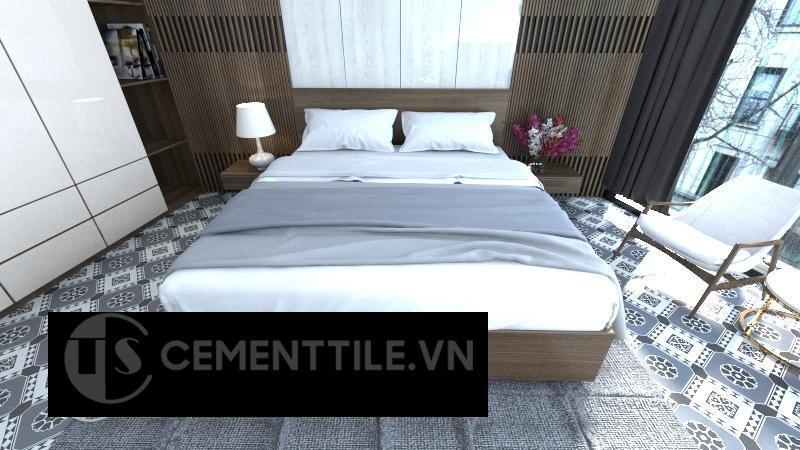Gạch bông cts 197.1 trang trí phòng ngủ