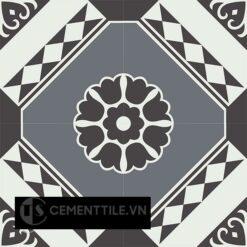 Gạch bông CTS 197.1(4-13-32) - 4 viên - Encaustic cement tile CTS 197.1(4-13-32) - 4 tiles