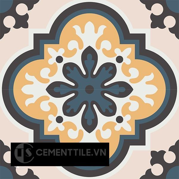 Gạch bông CTS 198.1(1-4-6-13-27) - 4 viên - Encaustic cement tile CTS 198.1(1-4-6-13-27)-4 tiles