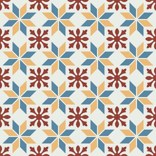 Gạch bông CTS 202.1(4-6-10-62) - 16 viên - Encaustic cement tile CTS 202.1(4-6-10-62) - 16 tiles