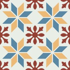 Gạch bông CTS 202.1(4-6-10-62) - 4 viên - Encaustic cement tile CTS 202.1(4-6-10-62) - 4 tiles