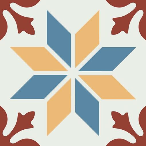 Gạch bông CTS 202.1(4-6-10-62) - Encaustic cement tile CTS 202.1(4-6-10-62)