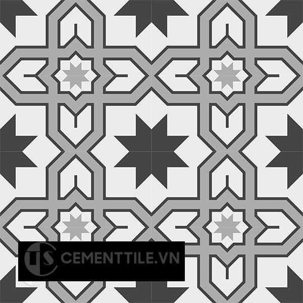 Gạch bông CTS 207.1(4-9-13) - 16 viên - Encaustic cement tile CTS 207.1(4-9-13) - 16 tiles