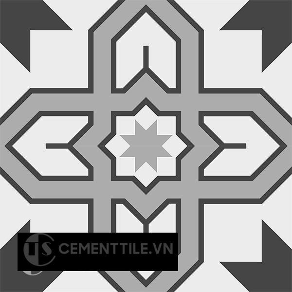 Gạch bông CTS 207.1(4-9-13) - 4 viên - Encaustic cement tile CTS 207.1(4-9-13) - 4 tiles