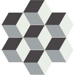 Gạch bông lục giác CTS H401.1(4-9-13) - 7 viên - Encaustic cement tile Hexagon CTS H401.1(4-9-13) - 7 tiles