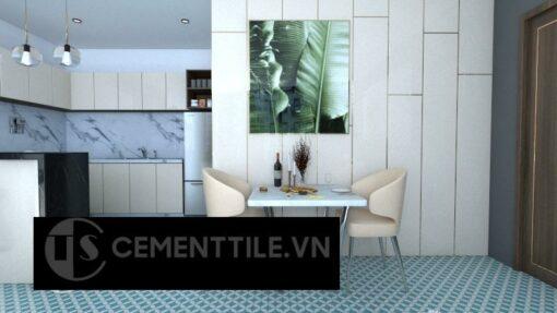 Gạch bông cts 6.23 trang trí nhà bếp