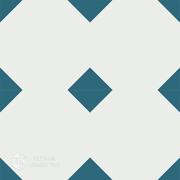 Gạch bông CTS 99.2(4-09) - 4 viên - Encaustic cement tile CTS 99.2(4-09) - 4 tiles
