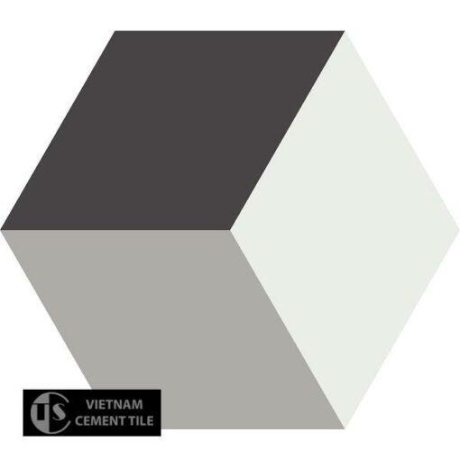 Gạch bông lục giác CTS H401.1(4-9-13) - Encaustic cement tile Hexagon CTS H401.1(4-9-13)