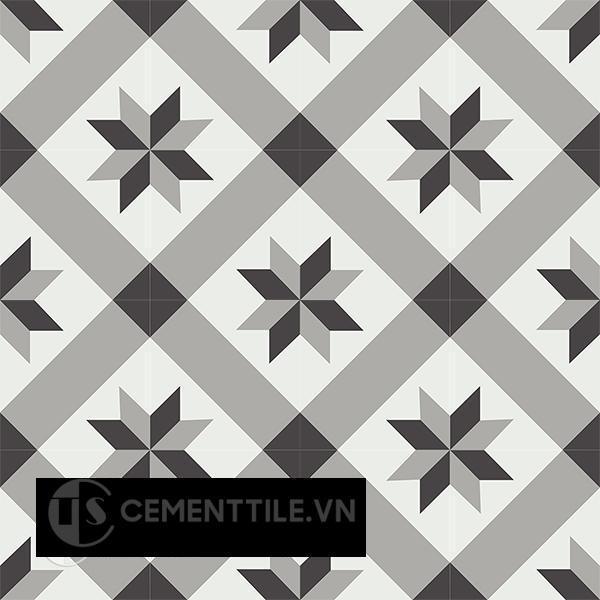 Gạch bông CTS 12.7(4-9-13) - 16 viên - Encaustic cement tile CTS 12.7(4-9-13) - 16 tiles