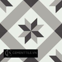 Gạch bông CTS 12.7(4-9-13) - 4 viên - Encaustic cement tile CTS 12.7(4-9-13) - 4 tiles