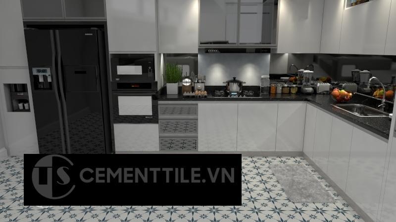 Gạch bông cts 194.2 trang trí nhà bếp