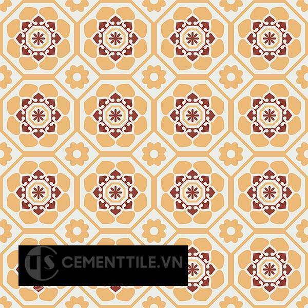 Gạch bông CTS 209.1(4-6-62) - 16 viên - Encaustic cement tile CTS 209.1(4-6-62) - 16 tiles