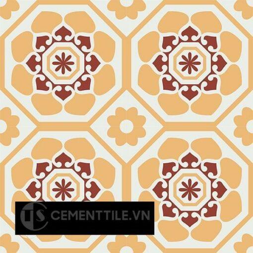 Gạch bông CTS 209.1(4-6-62) - 4 viên - Encaustic cement tile CTS 209.1(4-6-62) - 4 tiles