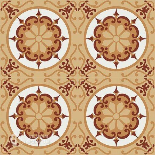 Gạch bông CTS 28.3(4-34-TH04-TH05) - 16 viên - Encaustic cement tile CTS 28.3(4-34-TH04-TH05) - 16 tiles