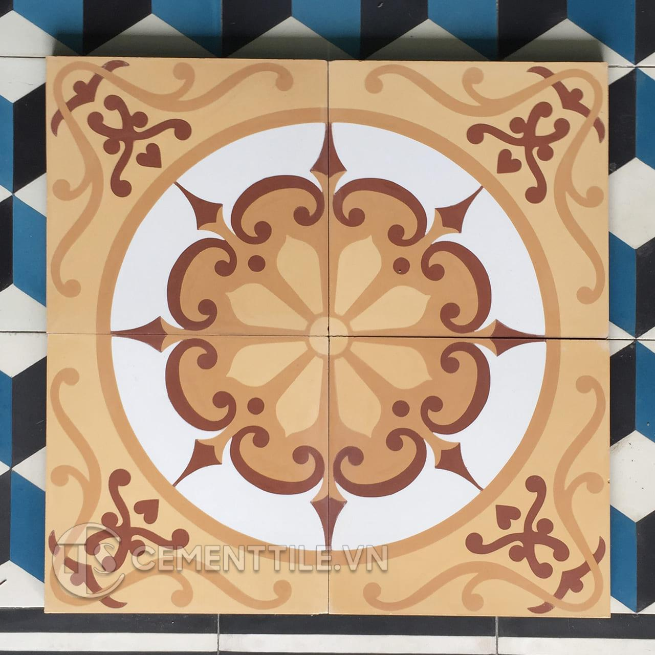 Gạch bông CTS 28.3(4-34-TH04-TH05) - Encaustic cement tile CTS 28.3(4-34-TH04-TH05)
