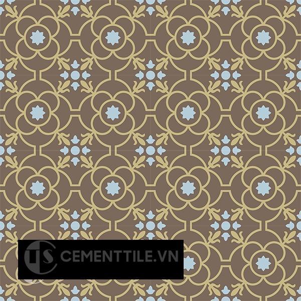 Gạch bông CTS 51.9(2-28-52) - 16 viên - Encaustic cement tile CTS 51.9(2-28-52) - 16 tiles