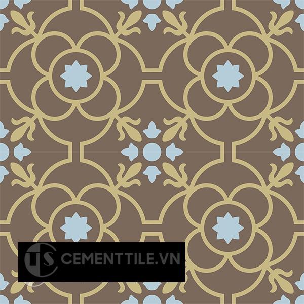Gạch bông CTS 51.9(2-28-52) - 4 viên - Encaustic cement tile CTS 51.9(2-28-52) - 4 tiles