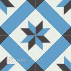 Gạch bông CTS 12.8(4-8-13) - 4 viên - Encaustic cement tile CTS 12.8(4-8-13) - 4 tiles