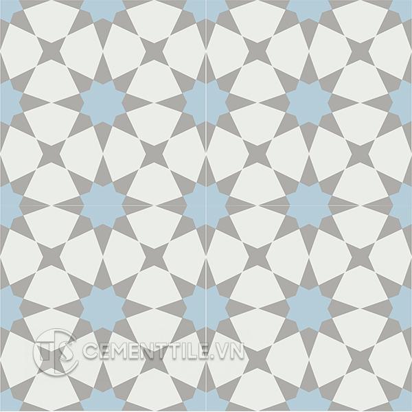 Gạch bông CTS 141.7(2-4-9) - 4 viên - Encaustic cement tile CTS 141.7(2-4-9) - 4 tiles