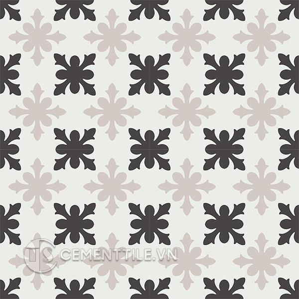 Gạch bông CTS 17.4(4-13-50) - 16 viên - Encaustic cement tile CTS 17.4(4-13-50) - 16 tiles