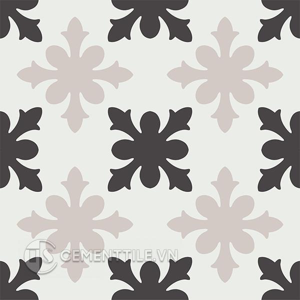 Gạch bông CTS 17.4(4-13-50) - 4 viên - Encaustic cement tile CTS 17.4(4-13-50) - 4 tiles