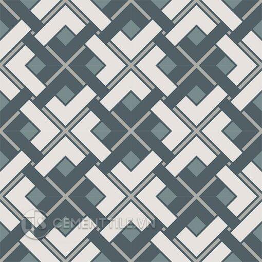 Gạch bông CTS 212.1(9-21-49-54) - 16 viên - Encaustic cement tile CTS 212.1(9-21-49-54) - 16 tiles
