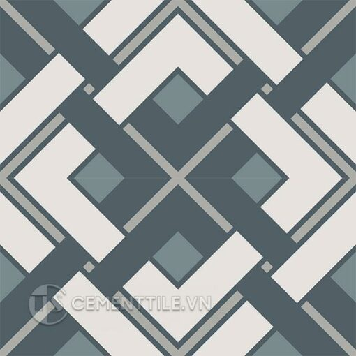 Gạch bông CTS 212.1(9-21-49-54) - 4 viên - Encaustic cement tile CTS 212.1(9-21-49-54) - 4 tiles