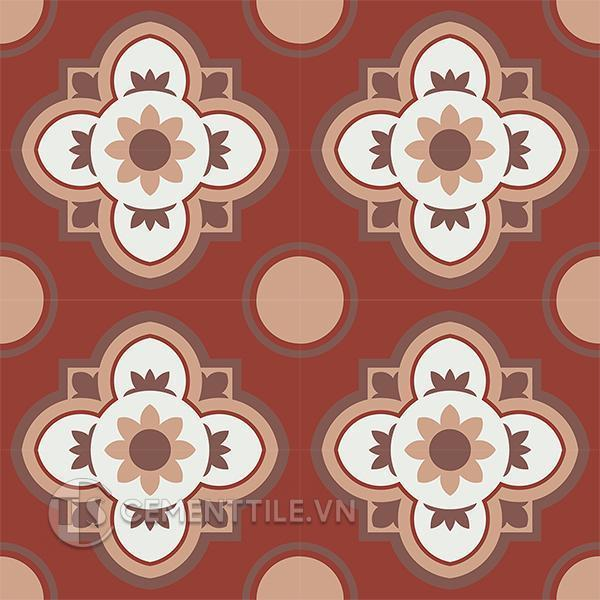 Gạch bông CTS 213.1(4-11-60-62) - 16 viên - Encaustic cement tile CTS 213.1(4-11-60-62) - 16 tiles