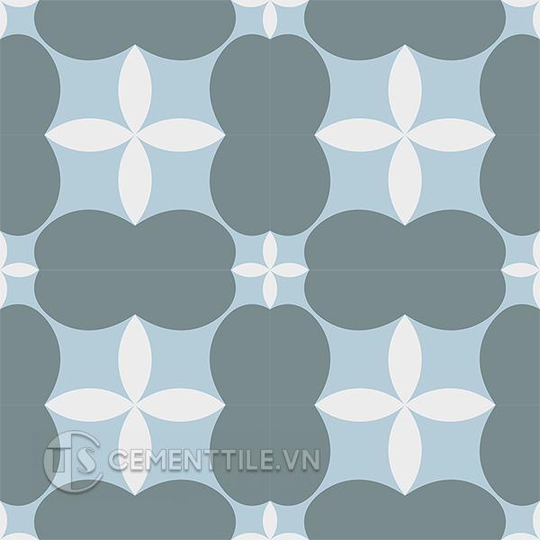 Gạch bông CTS 214.1(2-4-49) - 16 viên - Encaustic cement tile CTS 214.1(2-4-49) - 16 tiles
