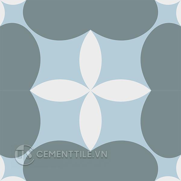 Gạch bông CTS 214.1(2-4-49) - 4 viên - Encaustic cement tile CTS 214.1(2-4-49) - 4 tiles