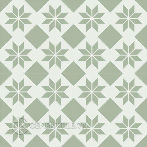 Gạch bông CTS 27.13(4-7) - 16 viên - Encaustic cement tile CTS 27.13(4-7) - 16 tiles