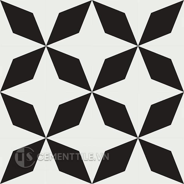 Gạch bông CTS 169.2(4-13) - 16 viên - Encaustic cement tile CTS 169.2(4-13) - 16 tiles