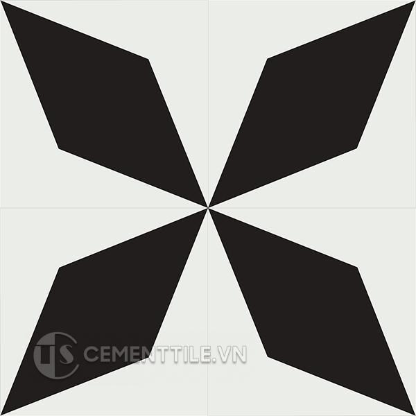 Gạch bông CTS 169.2(4-13) - 4 viên - Encaustic cement tile CTS 169.2(4-13) - 4 tiles