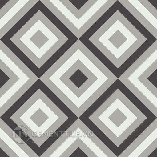 Gạch bông CTS 25.8(4-9-13) - 16 viên - Encaustic cement tile CTS 25.8(4-9-13) - 16 tiles