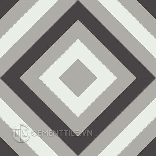 Gạch bông CTS 25.8(4-9-13) - 4 viên - Encaustic cement tile CTS 25.8(4-9-13) - 4 tiles