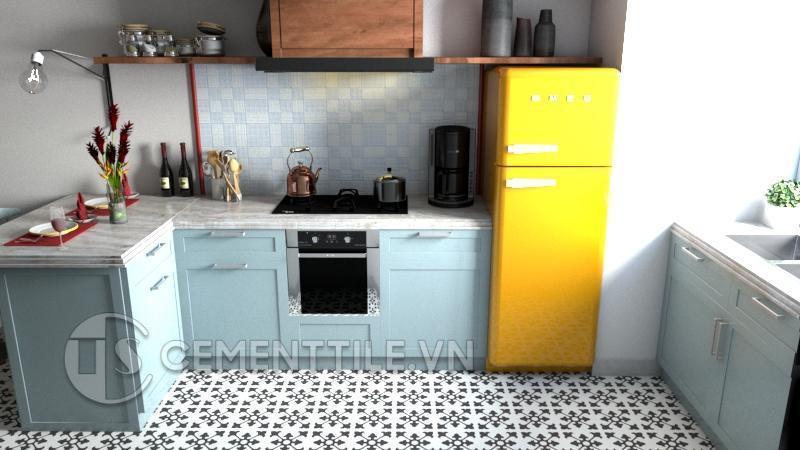 Gạch bông cts 39.9 trang trí nhà bếp