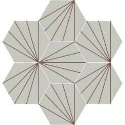 Gạch bông CTS 402.14(27-60) - 7 viên - Encaustic cement tile CTS 402.14(27-60) - 7 tiles