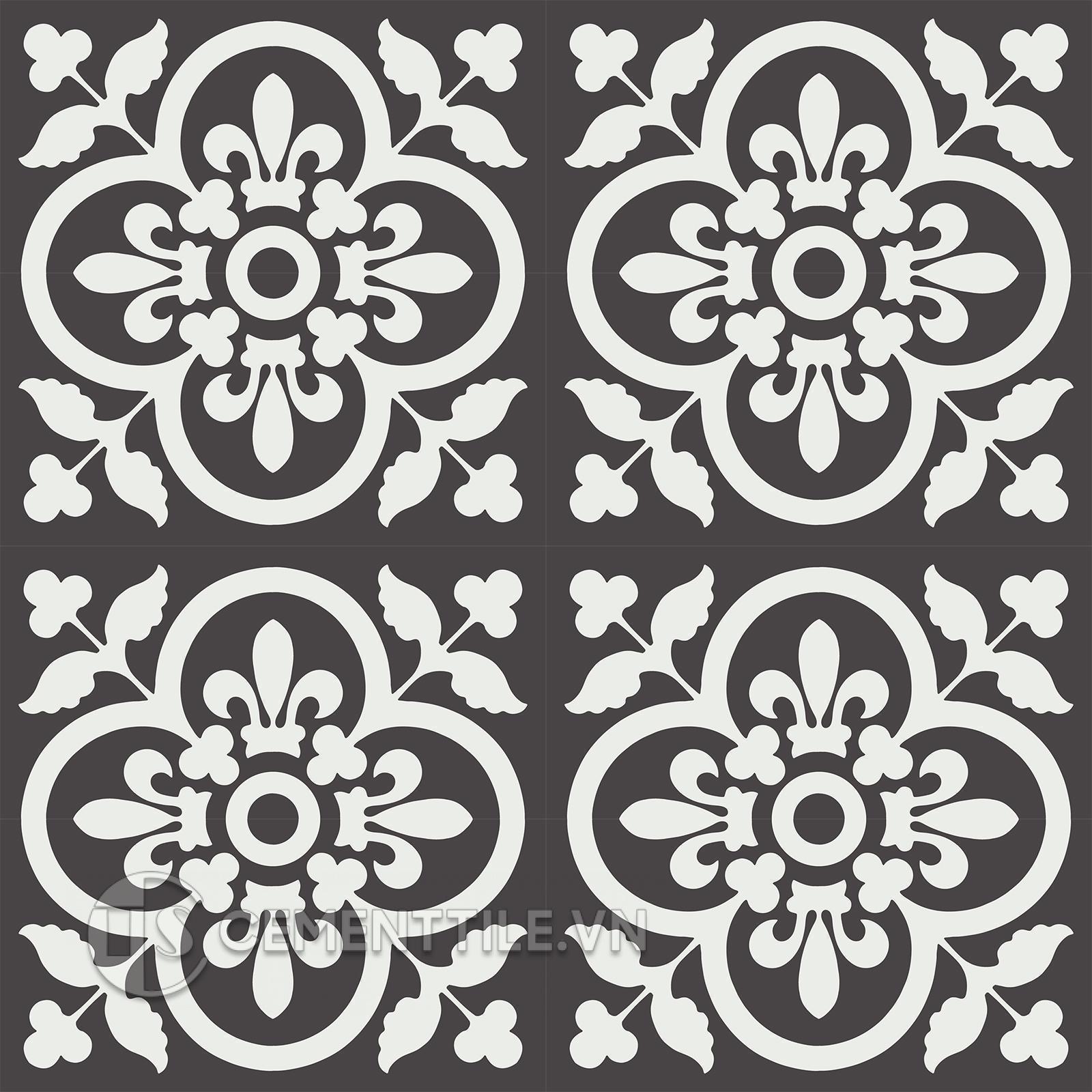 Gạch bông CTS 98.5(4-13) - 16 viên - Encaustic cement tile CTS 98.5(4-13) - 16 tiles