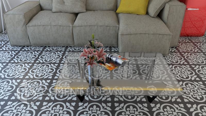 Gạch bông cts 98.5 lát nền phòng khách