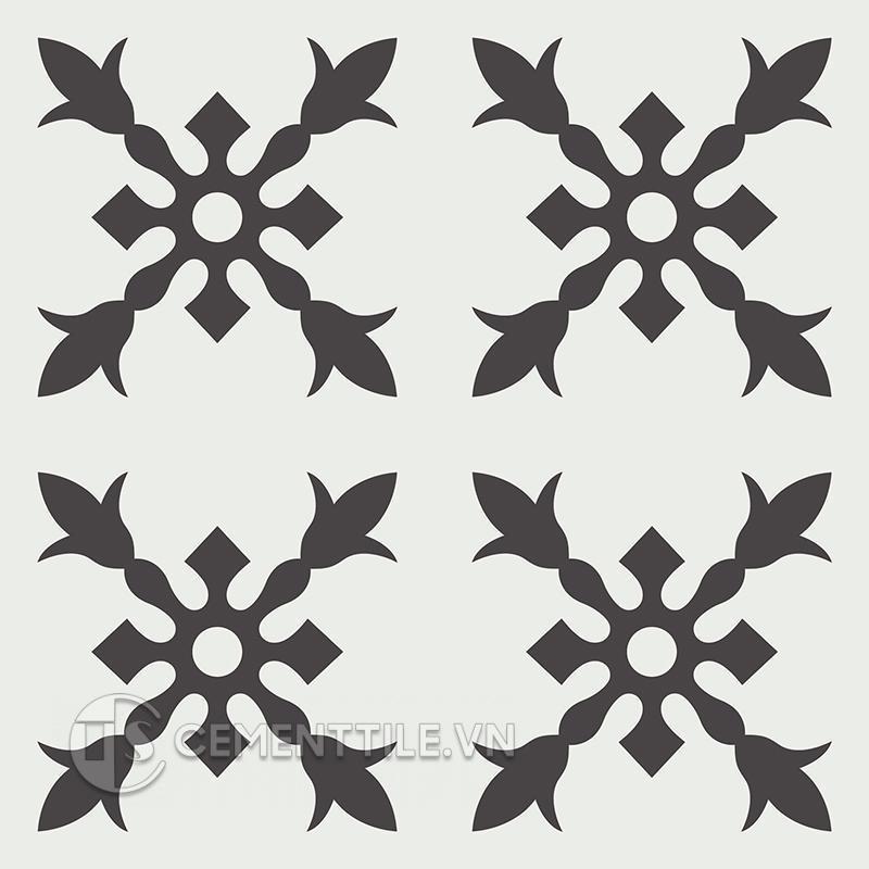 Gạch bông CTS 179.3(4-13) - 4 viên - Encaustic cement tile CTS 179.3(4-13) - 4 tiles