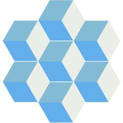 Gạch bông lục giác CTS H401.2(4-20-31) - 7 viên - Encaustic cement tile Hexagon CTS H401.2(4-20-31) - 7 tiles