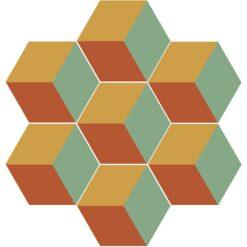 Gạch bông lục giác CTS H401.3(5-6-7) - 7 viên - Encaustic cement tile Hexagon CTS H401.3(5-6-7) - 7 tiles