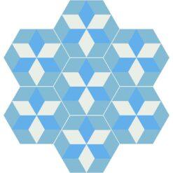 Gạch bông CTS H403.2(4-20-31) - 7 viên - Encaustic cement tile CTS H403.2(4-20-31) - 7 tiles