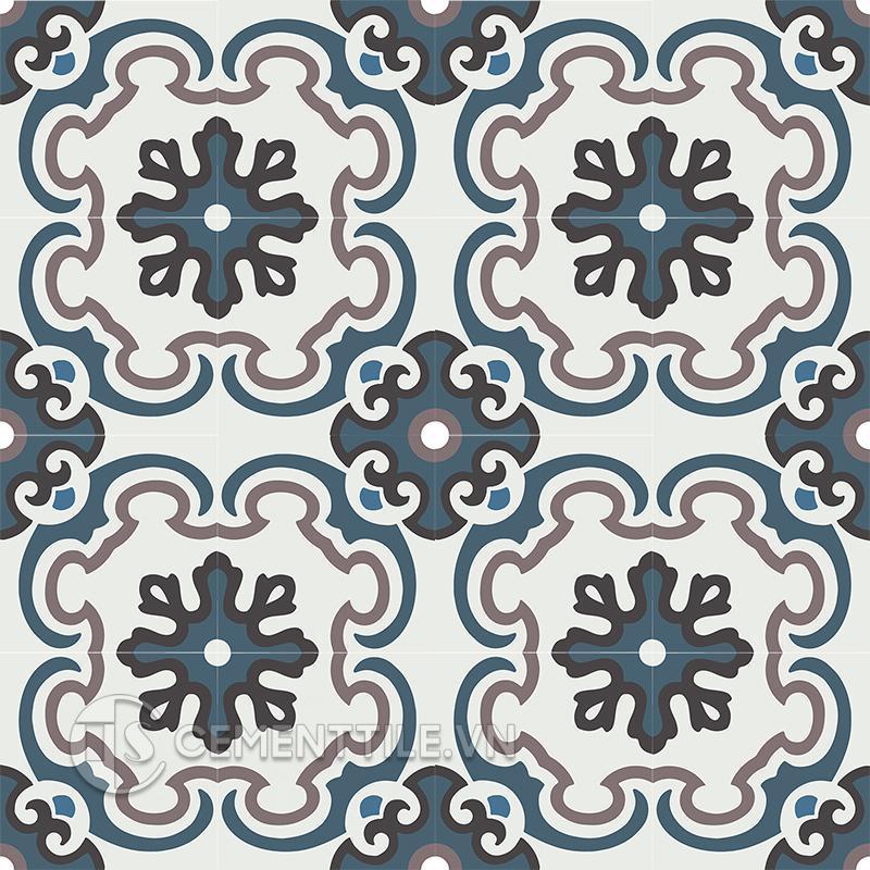 Gạch bông CTS 5.11(1-4-13-09) - 16 viên - Encaustic cement tile CTS 5.11(1-4-13-09) - 16 tiles