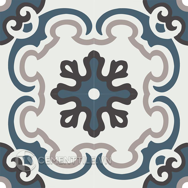 Gạch bông CTS 5.11(1-4-13-09) - 4 viên - Encaustic cement tile CTS 5.11(1-4-13-09) - 4tiles
