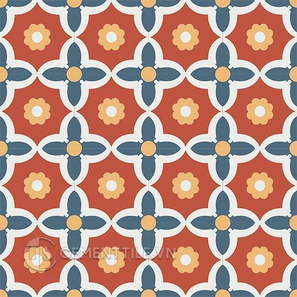 Gạch bông CTS 78.1(1-4-5-6) - 16 viên - Encaustic cement tile CTS 78.1(1-4-5-6) - 16 tiles