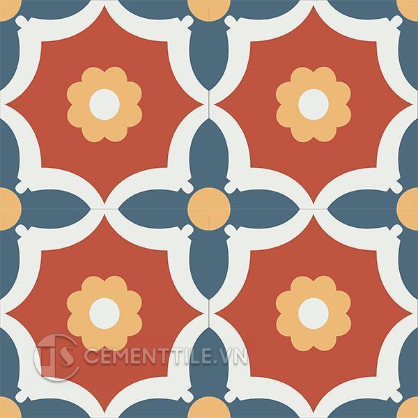 Gạch bông CTS 78.1(1-4-5-6) - 4 viên - Encaustic cement tile CTS 78.1(1-4-5-6) - 4 tiles